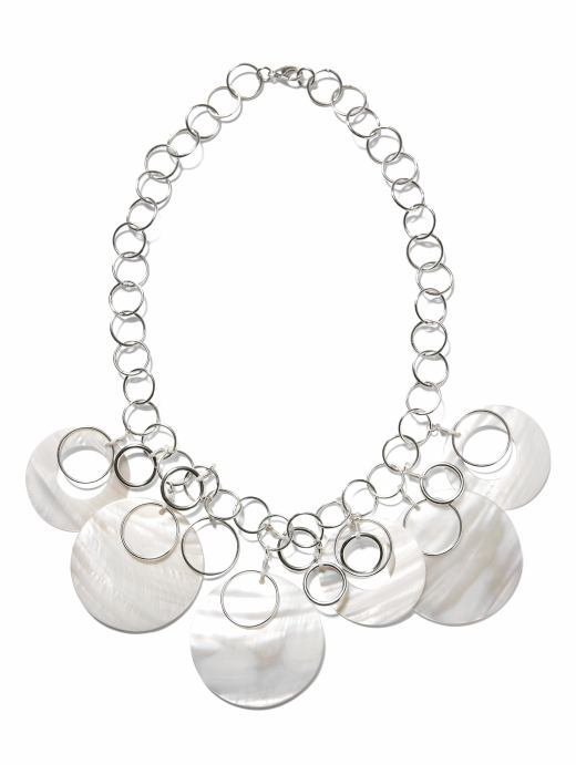 Banana Republic Mother-of-pearl disc necklace