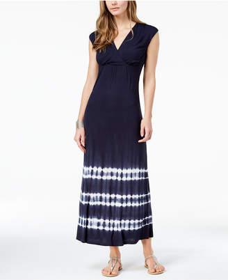 INC International Concepts I.N.C. Tie-Dye Surplice Maxi Dress, Created for Macy's
