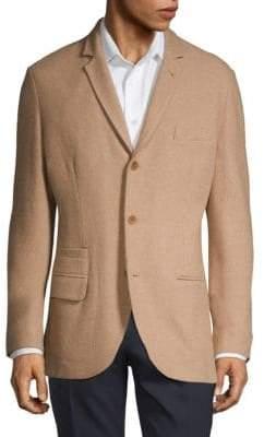 Loro Piana Elbow Patch Textured Jacket