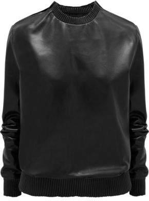 Givenchy Black Soft Nappa Leather Sweatshirt