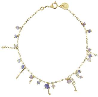 Sweet Pea Pogo Tanzanite Punk Bracelet - Yellow Gold