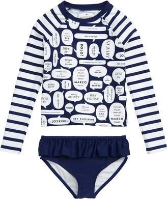 Kate Spade Speech Bubble 2-Piece Rashguard Swimsuit