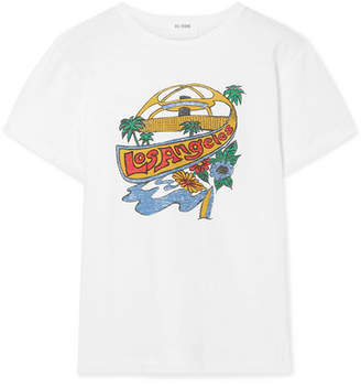 RE/DONE Classic Printed Cotton-jersey T-shirt - White