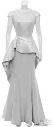 John Paul Ataker Sequin Metallic Gown w/ Tags