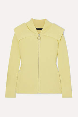 Cédric Charlier Ribbed Wool-blend Cardigan - Pastel yellow