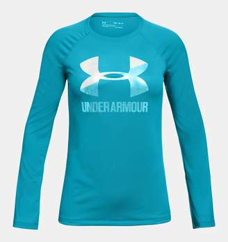 Under Armour Girls' UA Big Logo Long Sleeve