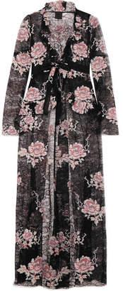 Anna Sui - Floral-print Lace Jacket - Black