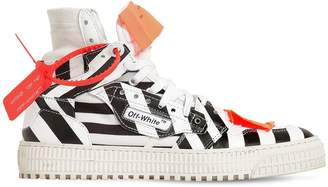Off-White 20mm Off-Court Striped Leather Sneakers