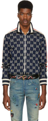 Gucci Navy and Off-White GG Track Jacket