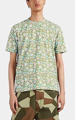 Junya Watanabe Comme des Garçons Men's Floral & Striped Cotton T-Shirt