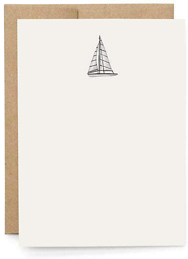 Set of 10 Smooth Sailing Note Cards