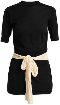 Toga Open Back Sequin Embellished Top - Womens - Black