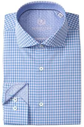 Bugatchi Check Shaped Fit Dress Shirt