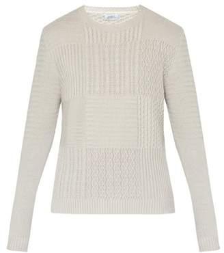 Saturdays NYC Everyday Multi Stitch Cotton Sweater - Mens - Ivory