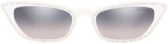 Miu Miu cat eye embellished sunglasses