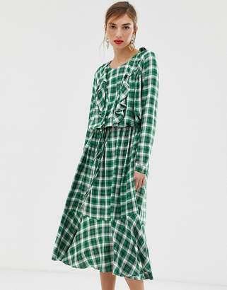 Custom Made Custommade Malin dress in checked print