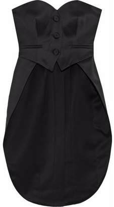 Moschino Strapless Satin-Crepe Bustier Top