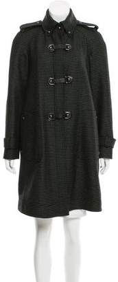 Tod's Leather-Trimmed Wool Coat