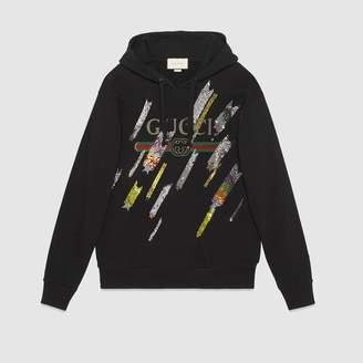 Gucci (グッチ) - シューティングスター GUCCI ロゴ オーバーサイズ スウェットシャツ