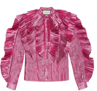 Lurex pleated shirt $3,700 thestylecure.com
