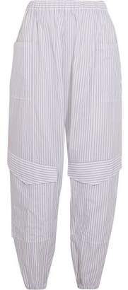 Chalayan Striped Cotton-Poplin Tapered Track Pants
