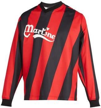 Martine Rose Long-sleeved twisted football shirt
