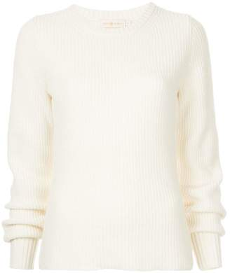 Tory Burch ribbed elongated sleeve sweater
