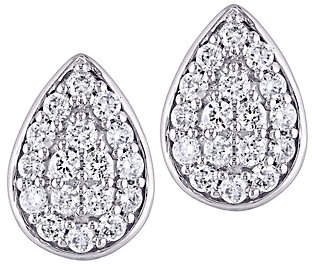 Affinity Diamond Jewelry Affinity 14K 1/3 cttw Diamond Cluster Pear Stud