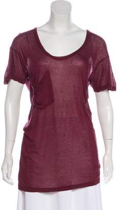 Kain Label Short Sleeve Sheer Top