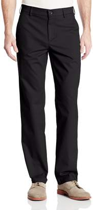Haggar Men's Performance Cotton Slack Straight Fit Plain Front Pant
