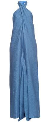 Natasha Zinko Jacquard wide-leg cotton-blend jumpsuit