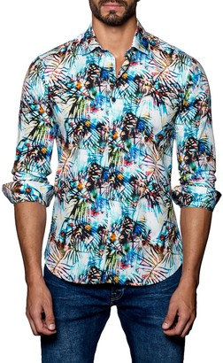 Jared Lang Woven Trim Fit Shirt