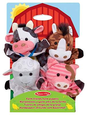 Melissa & Doug Farm Friends Hand Puppets, Pack of 4