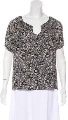 Joie Silk Floral Print Top
