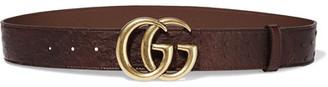 Gucci - Ostrich Belt - Dark brown $995 thestylecure.com