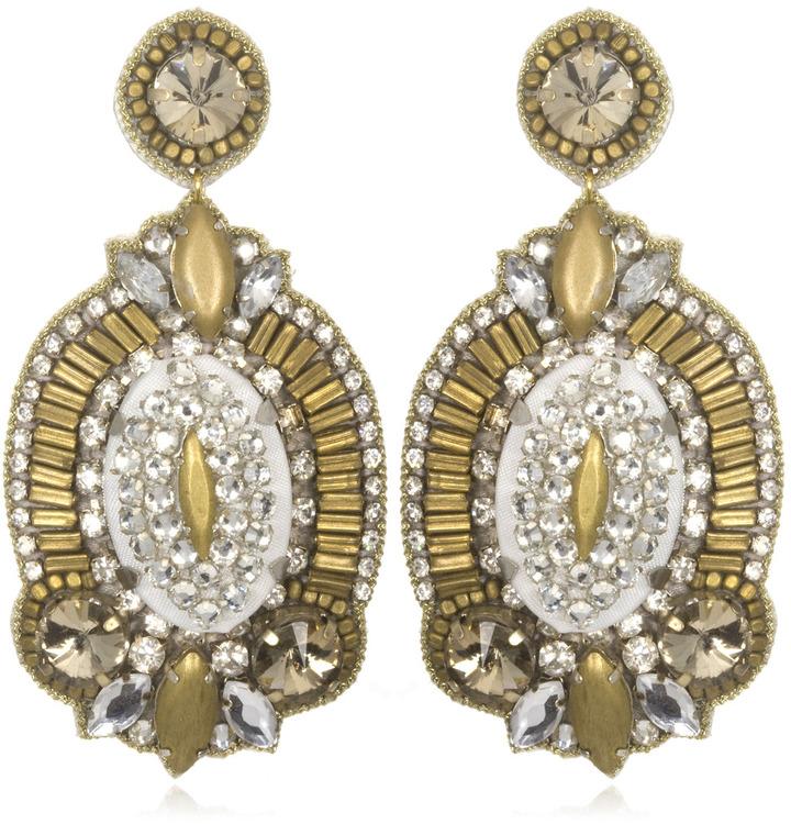 Charm & Chain Suzanna Dai Gold Windsor Drop Earrings