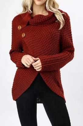 Zenana Outfitters Asymmetrical Wrap Sweater