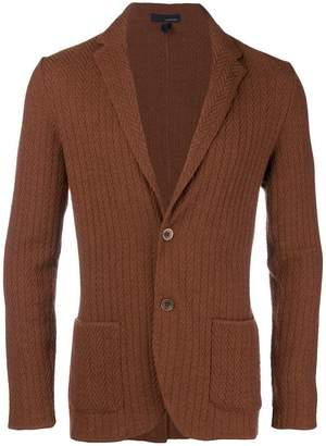 Lardini single breasted knitted blazer