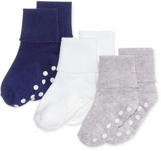 First Impressions 3-Pk. Cuffed Low-Cut Socks, Baby Boys, Created for Macy's