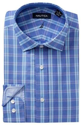 Nautica Pacific Ocean Plaid Classic Fit Dress Shirt