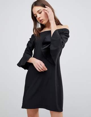 Glamorous Flare Sleeve Bardot Dress