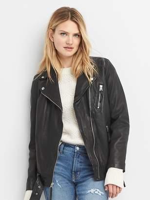 Gap Oversize leather biker jacket