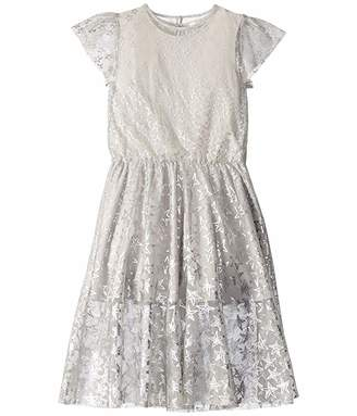 Stella McCartney Short Sleeve Stars Tulle Dress Early (Toddler/Little Kids/Big Kids)
