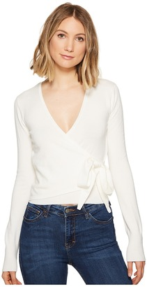 XOXO Long Sleeve Wrap Front Cardigan $44 thestylecure.com