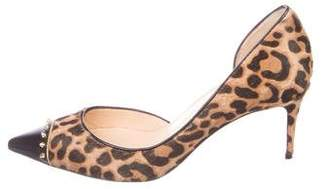 Christian Louboutin Leopard Print Spiked Pumps