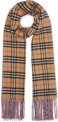 Burberry Colour Block Vintage Check Cashmere Scarf