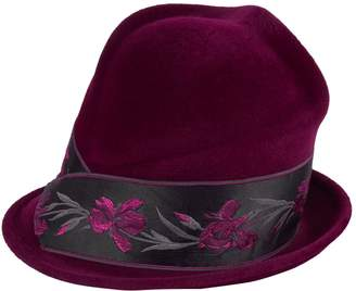 Philip Treacy Floral Band Side Sweep Hat