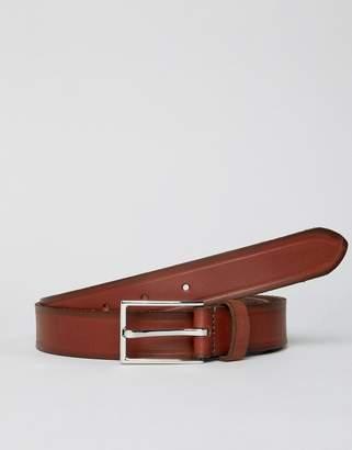 Esprit Slim Leather Smart Belt In Brown