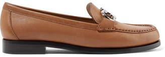 Salvatore Ferragamo Gancini Leather Loafers - Tan