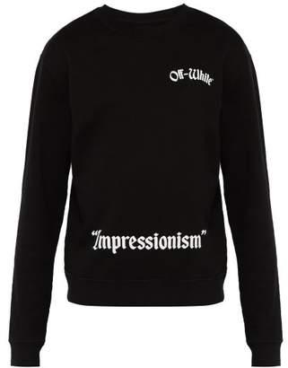 Off-White Off White Crewneck Sweatshirt - Mens - Black